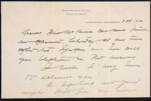 Letter from Mary Woolley to Jeannette Marks, 1912 March 29