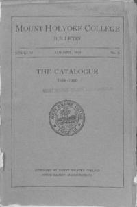 Mount Holyoke College Annual Catalog, 1918-1919