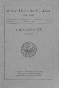 Mount Holyoke College Annual Catalog, 1919-1920