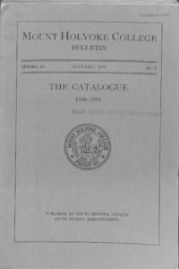 Mount Holyoke College Annual Catalog, 1930-1931
