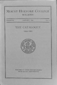 Mount Holyoke College Annual Catalog, 1934-1935