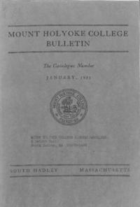 Mount Holyoke College Annual Catalog, 1950-1951