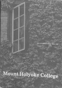 Mount Holyoke College Annual Catalog, 1981-1982