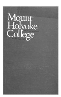 Mount Holyoke College Annual Catalog, 1984-1985