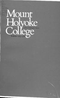 Mount Holyoke College Annual Catalog, 1985-1986