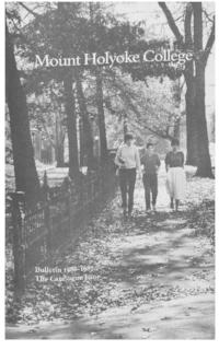 Mount Holyoke College Annual Catalog, 1986-1987