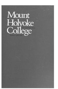 Mount Holyoke College Annual Catalog, 1988-1989