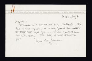 Letter from Jeannette Marks to Mary Woolley, 1937 July 6