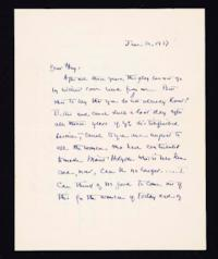 Letter from Jeannette Marks to Mary Woolley, 1937 June 30