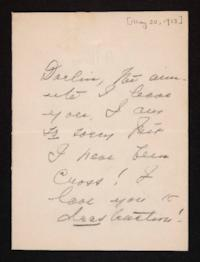 Letter from Mary Woolley to Jeannette Marks, 1913 May 30