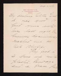 Letter from Mary Woolley to Jeannette Marks, 1913 September 13