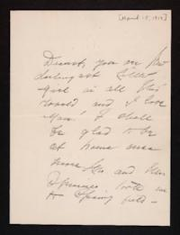 Letter from Mary Woolley to Jeannette Marks, 1914 April 15