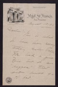 Letter from Mary Woolley to Jeannette Marks, 1915 August 13