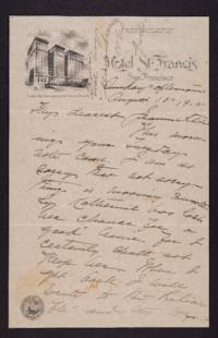 Letter from Mary Woolley to Jeannette Marks, 1915 August 15