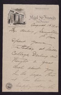 Letter from Mary Woolley to Jeannette Marks, 1915 August 16