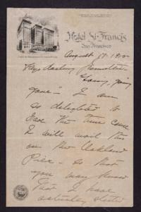 Letter from Mary Woolley to Jeannette Marks, 1915 August 17