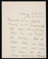 Letter from Mary Woolley to Jeannette Marks, 1915 July 21