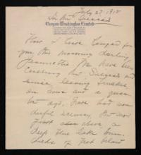 Letter from Mary Woolley to Jeannette Marks, 1915 July 27