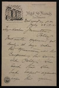 Letter from Mary Woolley to Jeannette Marks, 1915 July 28