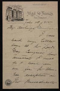 Letter from Mary Woolley to Jeannette Marks, 1915 July 29