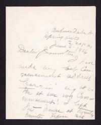 Letter from Mary Woolley to Jeannette Marks, 1916 June 6