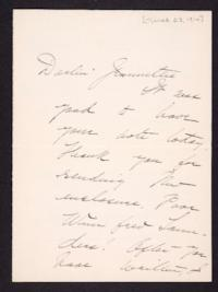 Letter from Mary Woolley to Jeannette Marks, 1916 March 23