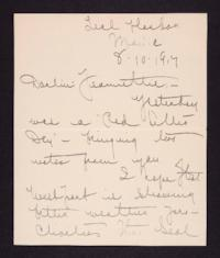 Letter from Mary Woolley to Jeannette Marks, 1917 August 10