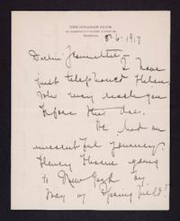 Letter from Mary Woolley to Jeannette Marks, 1917 August 6