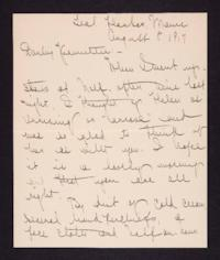 Letter from Mary Woolley to Jeannette Marks, 1917 August 8