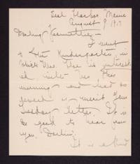 Letter from Mary Woolley to Jeannette Marks, 1917 August 9