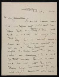 Letter from Mary Woolley to Jeannette Marks, 1918 August 19