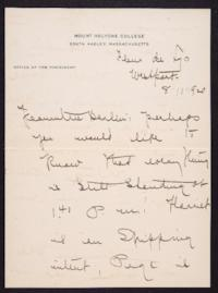 Letter from Mary Woolley to Jeannette Marks, 1920 August 11