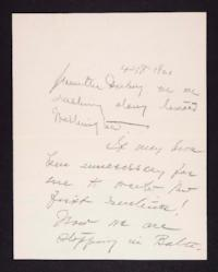 Letter from Mary Woolley to Jeannette Marks, 1921 April 18
