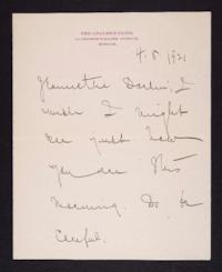 Letter from Mary Woolley to Jeannette Marks, 1921 April 8
