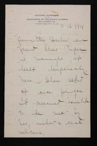 Letter from Mary Woolley to Jeannette Marks, 1921 February 16