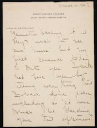 Letter from Mary Woolley to Jeannette Marks, 1921 March 30