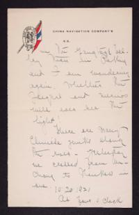 Letter from Mary Woolley to Jeannette Marks, 1921 October 20