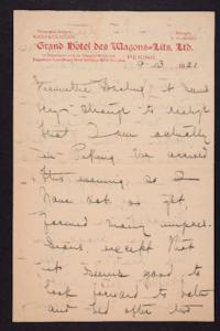 Letter from Mary Woolley to Jeannette Marks, 1921 September 13