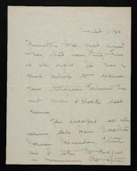 Letter from Mary Woolley to Jeannette Marks, 1922 August 11