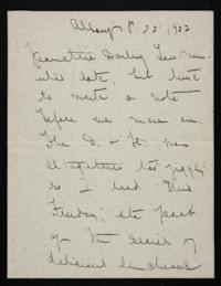 Letter from Mary Woolley to Jeannette Marks, 1922 August 22