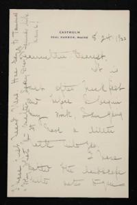 Letter from Mary Woolley to Jeannette Marks, 1922 August 24