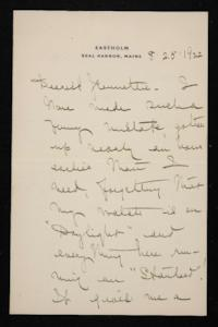 Letter from Mary Woolley to Jeannette Marks, 1922 August 25