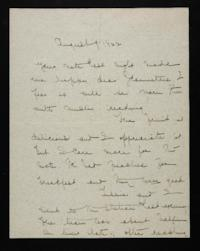 Letter from Mary Woolley to Jeannette Marks, 1922 August 9