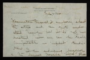 Letter from Mary Woolley to Jeannette Marks, 1922 July 3