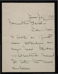 Letter from Mary Woolley to Jeannette Marks, 1923 July 1