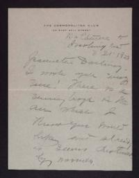 Letter from Mary Woolley to Jeannette Marks, 1923 March 21