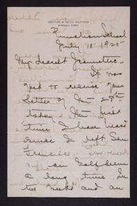 Letter from Mary Woolley to Jeannette Marks, 1925 July 10