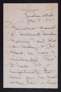 Letter from Mary Woolley to Jeannette Marks, 1925 July 5