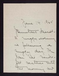 Letter from Mary Woolley to Jeannette Marks, 1925 June 14