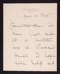 Letter from Mary Woolley to Jeannette Marks, 1925 June 15